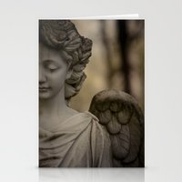 religious Stationery Cards featuring Angel by Maria Heyens