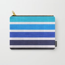 Colorful Blue Stripe Pattern Carry-All Pouch