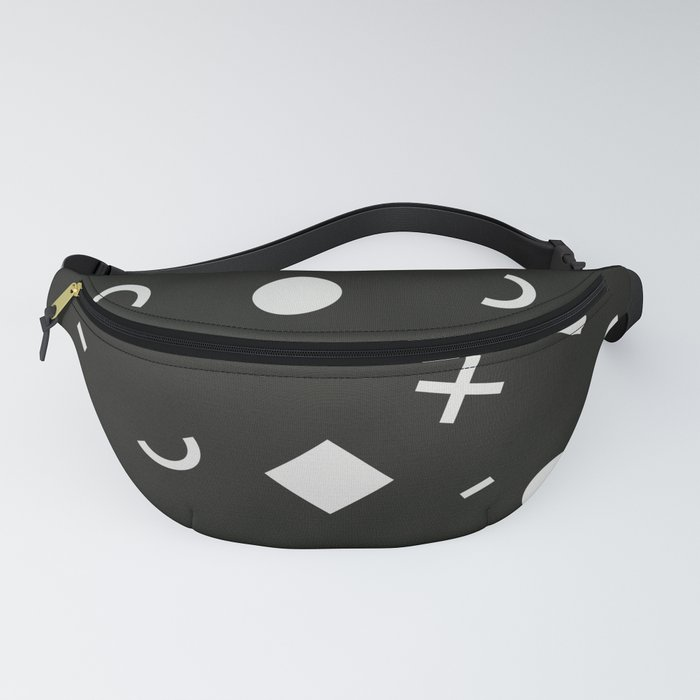 Black & White Memphis Pattern Fanny Pack