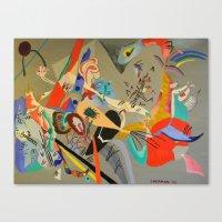kandinsky Canvas Prints featuring Kandinsky Composition Study by Andrew Sherman