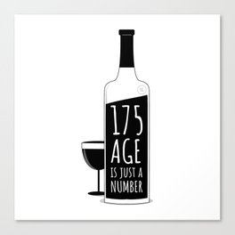 Age is just a number Canvas Print
