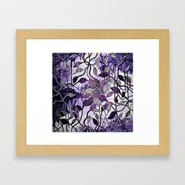 Interlaced Leaves Framed Art Print