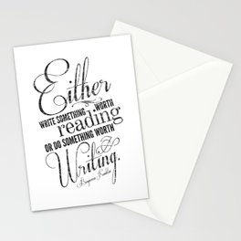 Benjamin Franklin Quote Stationery Cards