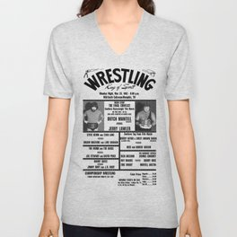 #16 Memphis Wrestling Window Card Unisex V-Neck