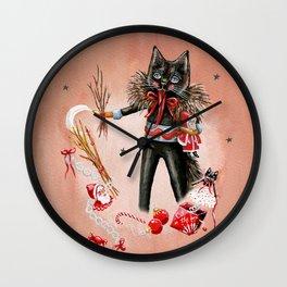 Krampus cat character Wall Clock