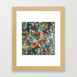 Abstract floral blossom Framed Art Print