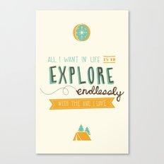 Explore Endlessly Canvas Print