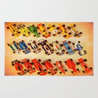 cars Area & Throw Rugs featuring RACE CARS by Teresa Chipperfield Studios