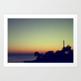 malibu sunset, fall Art Print