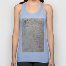 Vintage Burlington Vermont Topographic Map (1904) Unisex Tank Top