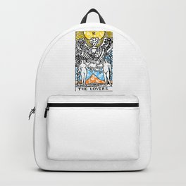 Floral Tarot Print - The Lovers Backpack