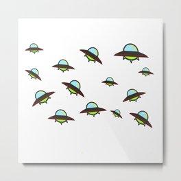 Herd of UFOs Metal Print