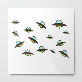 Herd of UFOs Metal Print