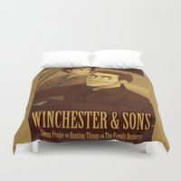 winchester Duvet Covers featuring Winchester & Sons by The Art of Nicole