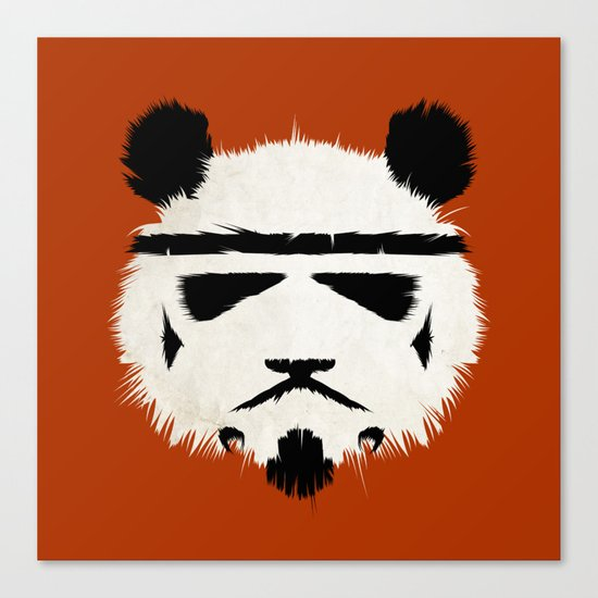 Panda Trooper Canvas Print