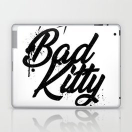 Grunge lettering Bad Kitty Laptop & iPad Skin