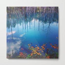 Blue Pond, Hokkaido, Japan Metal Print