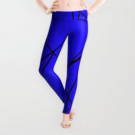 blue & black mess Leggings