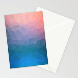 Abstract colorful triangles background Stationery Cards