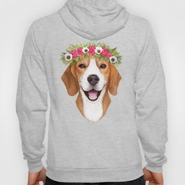 Beagle with flowers Hoody