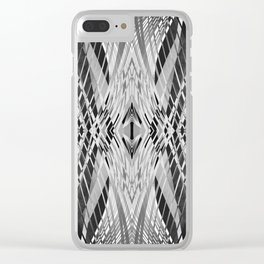 PRETTY BLACK & WHITE LINE PATTERN Clear iPhone Case