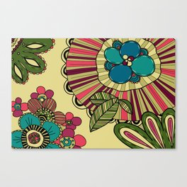 pattern with flowers Canvas Print