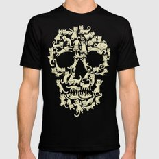 Catskull Black Mens Fitted Tee LARGE