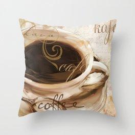 Le Cafe I Throw Pillow