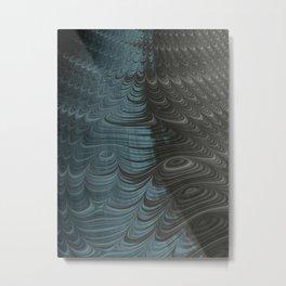 Charcoal Crust - Fractal Art Metal Print