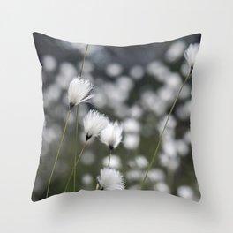 Wispy Flowers Throw Pillow