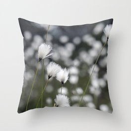 Wispy Flowers Throw Pillow