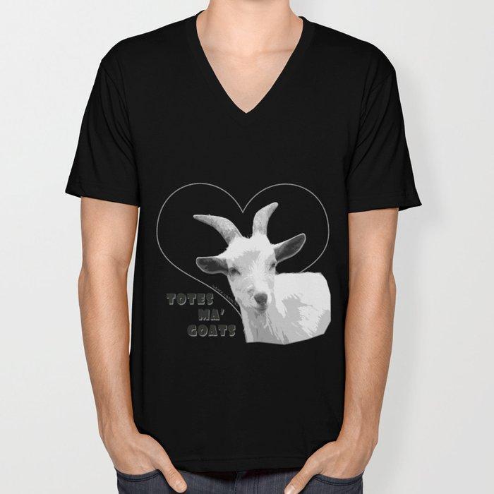 Totes Ma Goats - Black Unisex V-Neck