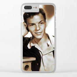 Frank Sinatra, Hollywood Legend Clear iPhone Case