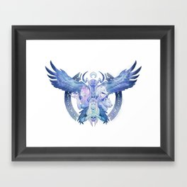Four Faces of the Goddess Framed Art Print