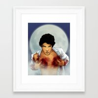 teen wolf Framed Art Prints featuring Teen Wolf by Kimball Gray