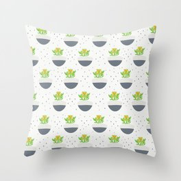 Potted Kalanchoe Plant Mom Pattern Throw Pillow