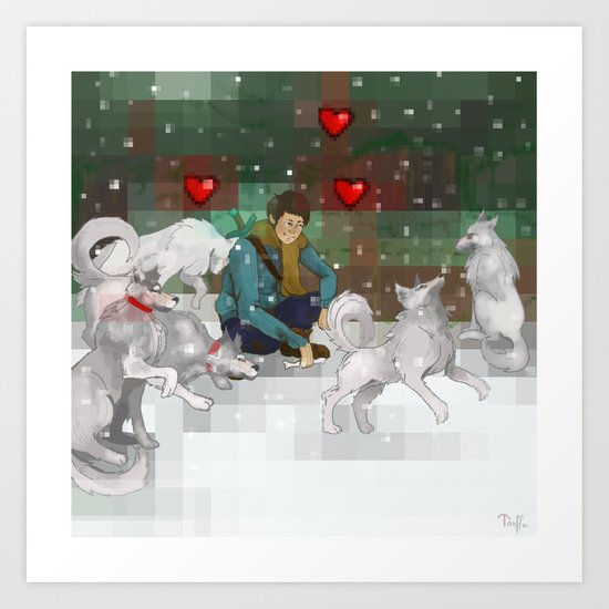 wolves are a mans best friend Art Print