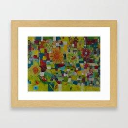 The patchwork Garden Framed Art Print