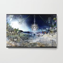 The City of Pyramids in the Night of Pan Metal Print