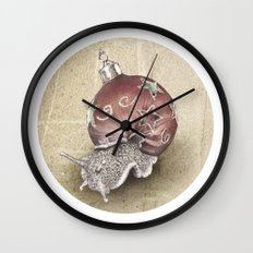 In which a snail is most festive this christmas  Wall Clock