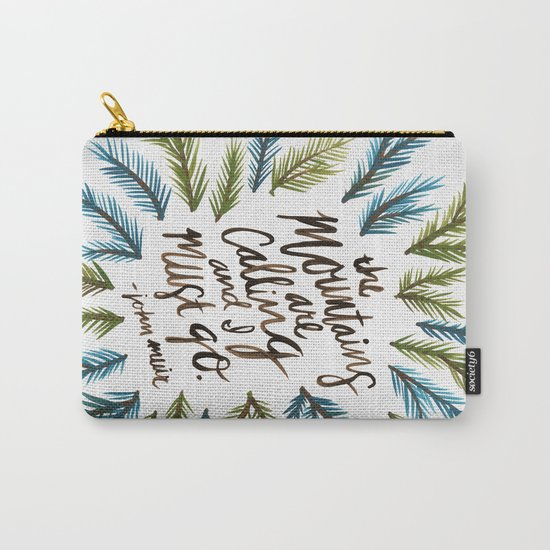 Mountains Calling Carry-All Pouch