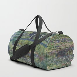 Water Lilies and the Japanese Bridge by Claude Monet Duffle Bag
