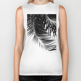 Palm Leaves Black & White Vibes #1 #tropical #decor #art #society6 Biker Tank