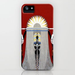 """The Egyptian"" Art Deco Illustration iPhone Case"
