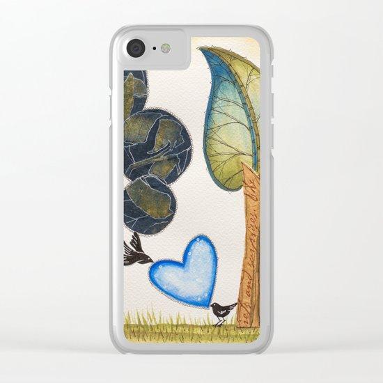 Birds in love Clear iPhone Case