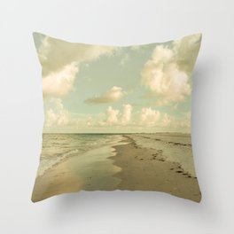 Clouds and Sea Throw Pillow