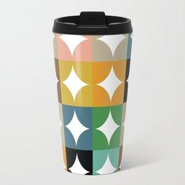 Retro Circles & Diamonds 23 Travel Mug
