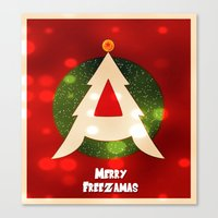 dragonball z Canvas Prints featuring Dragonball Z Christmas by Weasley-Detectives