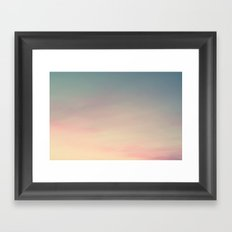 Pastel skies Framed Art Print