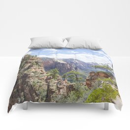 Angels Landing at Zion National Park Comforters
